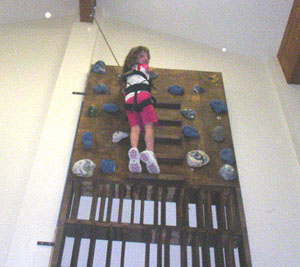 Developing rock climbing skills